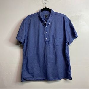 J. Crew oxford blue short sleeve shirt XL
